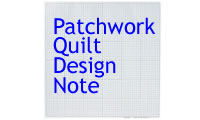 Patchwork quilting design note